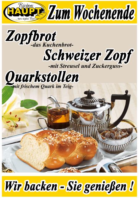Zopf, Streusel, Quarkstollen